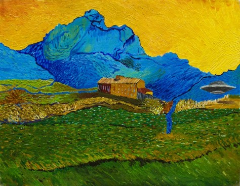 My painting of Van Gogh's original painting